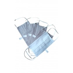Masques de protection lavables - Coloris Gris (Lot de 5)