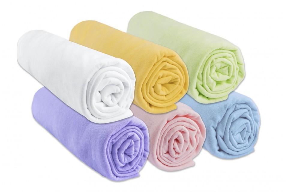 Lot de 6 draps housse Coton - 40x80 / 40x90 - coloris mixte